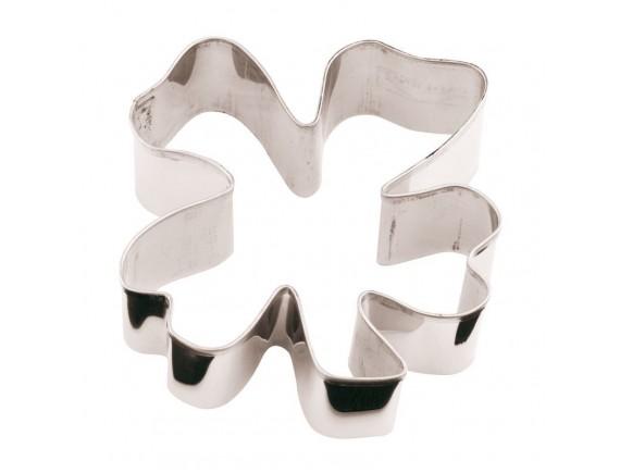 Вырубка Клевер, 8х8х3 см нержавеющая сталь, Paderno. (47374-08)