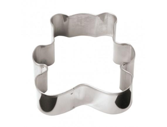 Вырубка медведь, 8х8х3 см нержавеющая сталь, Paderno. (47375-08)