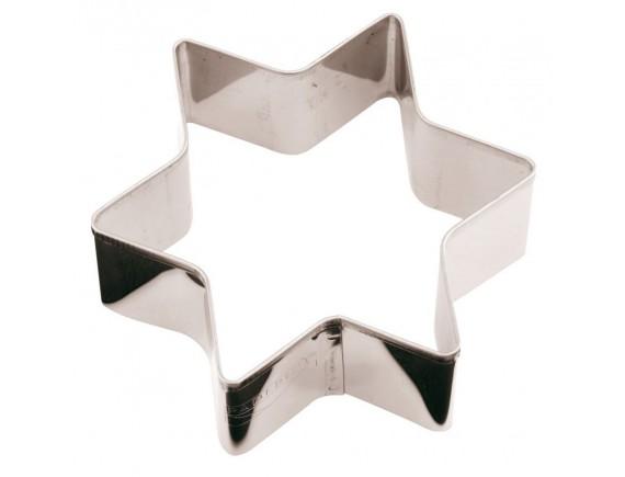Вырубка Звезда, 8х8х3 см нержавеющая сталь, Paderno. (47411-08)