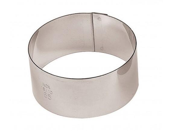 Кольцо кондитерское для торта, гарнира 6х3 см, нерж.сталь, Paderno. (47425-03)