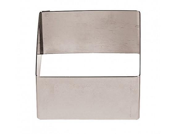 Форма кондитерская квадратная для торта, гарнира 6х6х3 см, нерж.сталь, Paderno. (47425-05)
