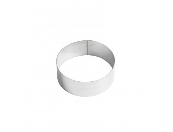 Кольцо кондитерское для торта, гарнира 12х4.5 см нержавеющая сталь, Paderno. (47532-12)