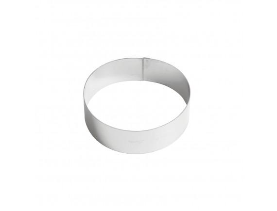 Кольцо кондитерское для торта, гарнира 14х4.5 см нержавеющая сталь, Paderno. (47532-14)