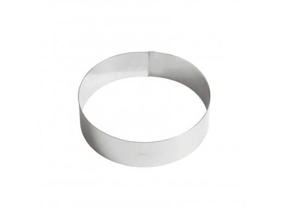 Кольцо кондитерское для торта, гарнира, 16х4.5 см нержавеющая сталь, Paderno. (47532-16)