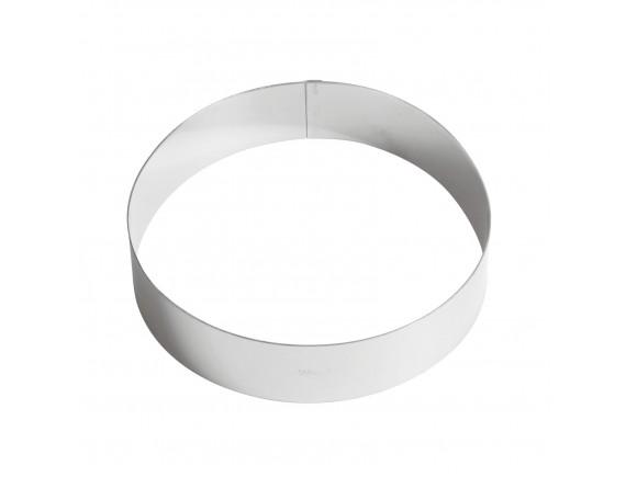 Кольцо кондитерское для торта, гарнира, 20х4,5 см нержавеющая сталь, Paderno. (47532-20)