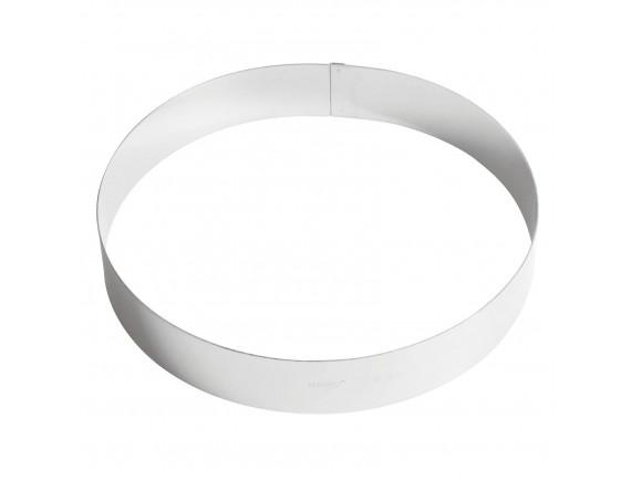 Кольцо кондитерское для торта, гарнира 26х4.5 см нержавеющая сталь, Paderno. (47532-26)