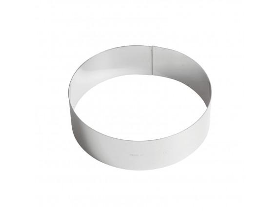 Кольцо кондитерское для торта, гарнира 20х6 см нержавеющая сталь, Paderno. (47534-20)