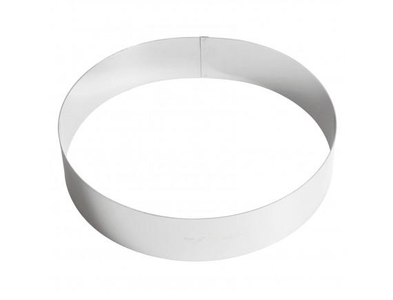 Кольцо кондитерское для торта, гарнира 28х6 см нержавеющая сталь, Paderno. (47534-28)