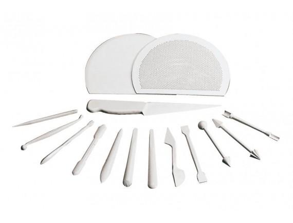 Набор для работы с марципаном, 15 предметов, пластик, Paderno (47631-12)
