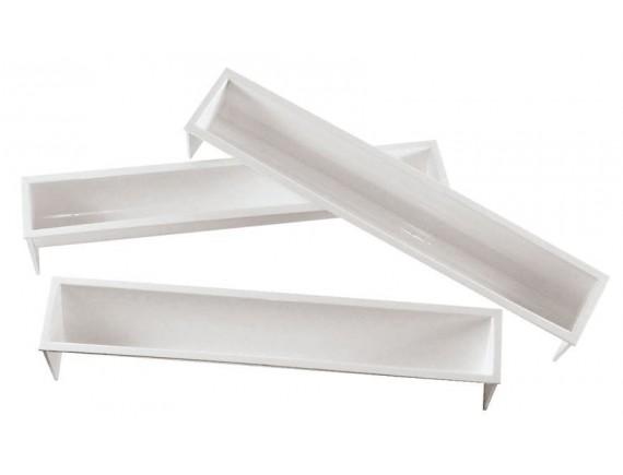 Форма для паштета кондитерская, 48х6.5х7 см, полукруг, пластик, Paderno. (47659-02)
