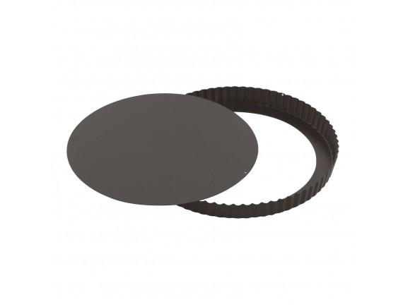 Форма для выпечки со съемным дном, волнистый край, 28х2.5см, с антипригарным покрытием, Paderno. (47712-28)