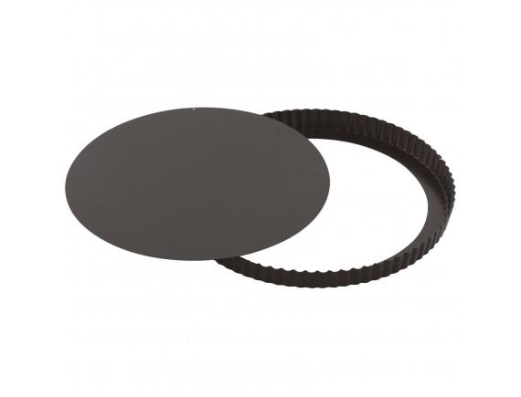 Кондитерская форма для выпечки со съемным дном, волнистый край, 32х2.5см, с антипригарным покрытием, Paderno. (47712-32)