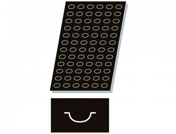 Кондитерская силиконовая форма для выпечки, 60х40 см, 72 ячейки 4.2х2.6х2 см, Paderno. (47740-90)