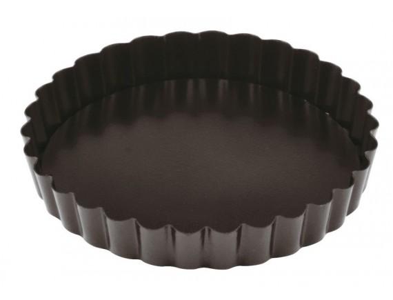Кондитерская форма для выпечки со съемным дном, волнистый край, 12х2 см, с антипригарным покрытием, Paderno. (47758-12)