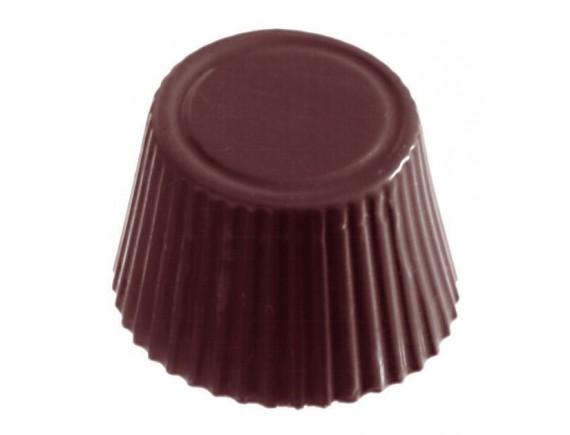 Кондитерская форма для шоколадных конфет, 27.5х17.5 см, 28 ячеек 3.8х1.9 см, поликарбонат, Paderno. (47860-35)