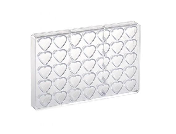 Кондитерская форма для шоколадных конфет, 27.5х17.5 см, 35 ячеек 3.5х2.2х1.6 см, поликарбонат, Paderno. (47860-85)