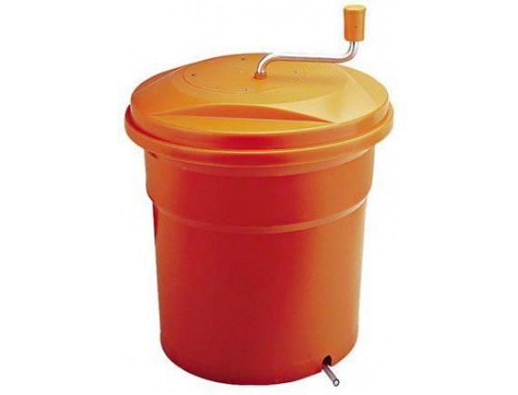 Ведро для сушки зелени 33х43 см, 12 л, пластик, оранжевое, Paderno. (49888-10)
