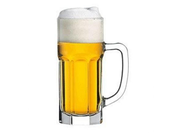 Кружка пивная «Касабланка», стекло, 630мл, D=85/85, H=195, B=130мм, прозрачный, Pasabahce. (55369)