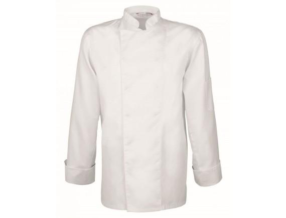 Китель поварской, длинный рукав, на кнопках, 65% полиэстер, 35% хлопок, белый, GREIFF. (5580.8000.090)