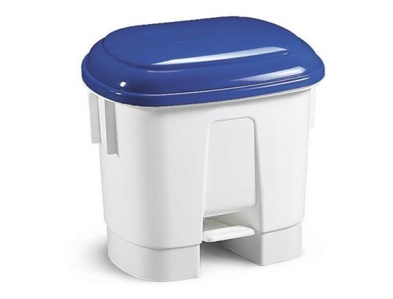 Ведро мусорное Derby 30 л с педалью и держателем для мешка с синей крышкой, полипропилен (5712)