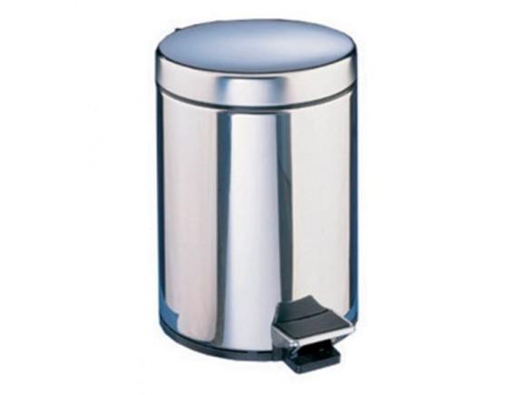 Ведро для мусора Dot, из хромир.стали с педалью и внутренним съемным пластиковым ведром, 3 л (5836)