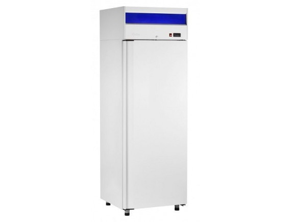 Шкаф холодильный ШХс-0,7 краш. (740х820х2050) t 0...+5°С, верх.агрегат, авт.оттайка, мех.замок, ванна выпаривания конденсата, Чувашторгтехника (710000002415)