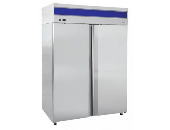 Шкаф холодильный ШХс-1,4-01 нерж. (1485х820х2050) t 0...+5°С, верхний агрегат, авт.оттайка, мех. замок, доводчик, ванна выпаривания конденсата, Чувашторгтехника (710000002416)