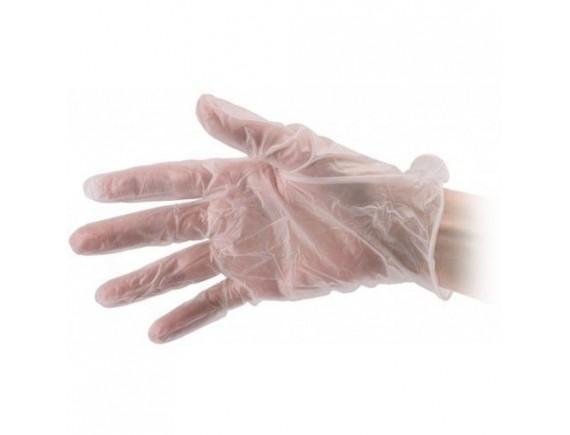 Перчатки виниловые неопудренные, размер L (уп-100шт), Proff Cuisine. (81006736)