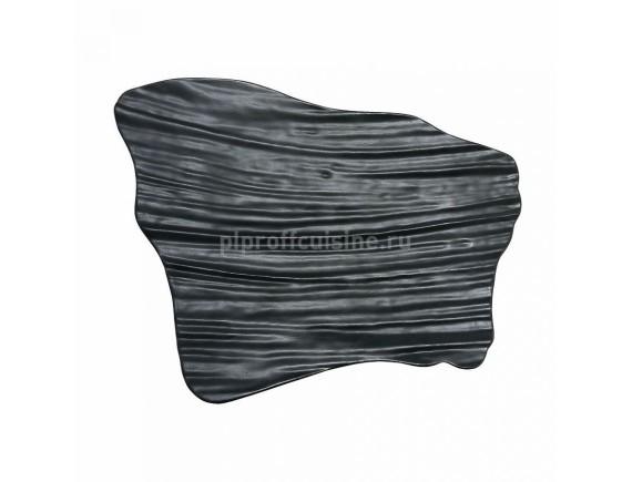 Блюдо черное прямоугольное, 26*17 cм