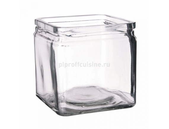 Банка квадратная для подачи, стекло 10*10*10 cм, 600мл, Proff Cuisine. (81200134)