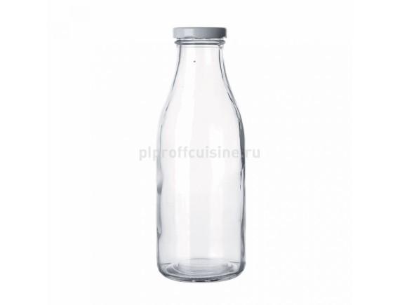 Бутылка с крышкой для молока, соков 1л, Proff Cuisine. (81200147)