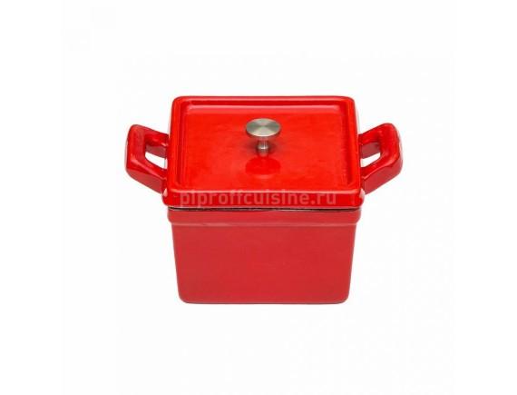 Кастрюля 500 мл эмалированная порционная чугунная L-10.5см, Proff Cuisine (81200174)