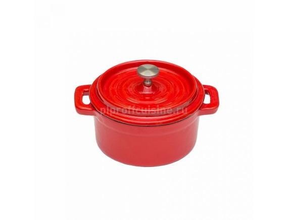 Кастрюля 250 мл эмалированная порционная чугунная D-10 см, Proff Cuisine (81200175)