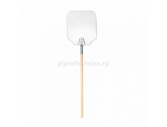 Лопата для пиццы, алюминиевая с деревянной ручкой, (лопата 229*279, ручка 64см), Proff Cuisine. (81200259)