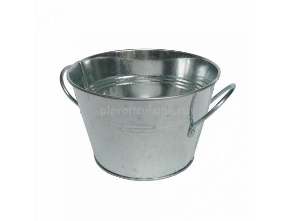 Ведерко металлическое для подачи, сервировки, d-13,5 cм, h-8,5 cм, 850мл, Proff Cuisine. (81200293)