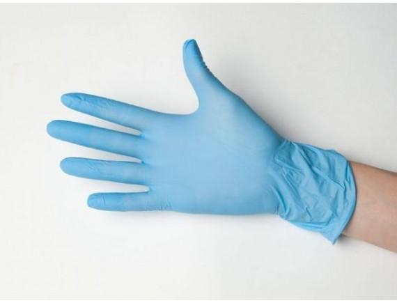 Перчатки нитриловые, голубые, размер M (уп-100шт), Proff Cuisine. (81400079)