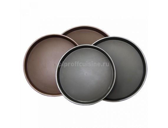 Поднос коричневый