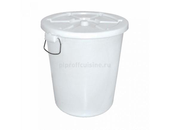 Бак пластиковый, с крышкой 65л, Proff Cuisine. (90001094)