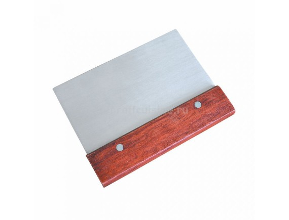 Скребок металлический с деревянной ручкой 7,5х13 см, Proff Cuisine. (92001318)