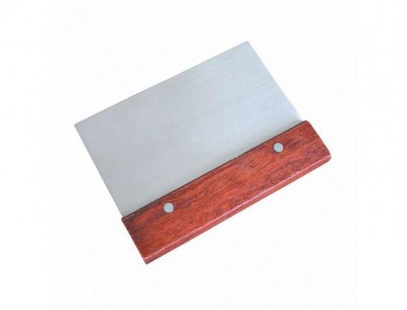 Скребок металлический с деревянной ручкой 7,5х15 см, Proff Cuisine. (92001319)