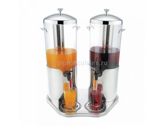 Диспенсер сервировочный для соков, молока и тд. (2 колбы по 5 л), Proff Cuisine. (92001485)