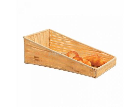 Подставка для выкладки выпечки, плетеная, ротанг беж.прямоуг.46*25*5см, Proff Cuisine. (95001015)