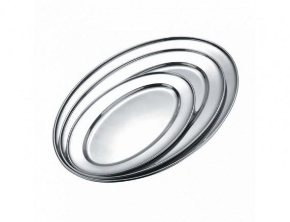 Блюдо металлическое овальное, 40 cм- Sun, Proff Cuisine. (95001021)