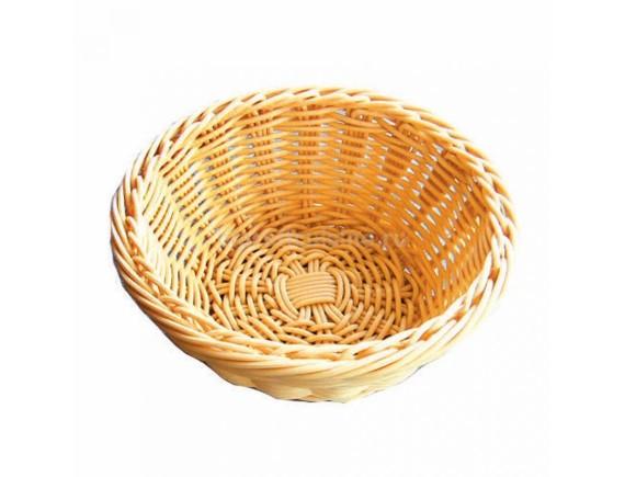 Хлебница плетеная, ротанг беж.круглая d=19.h=7 cм