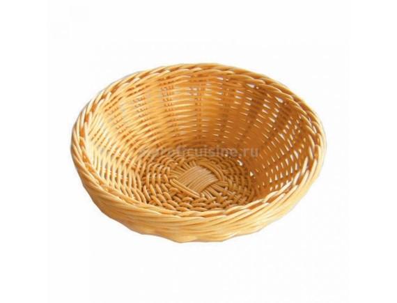 Хлебница плетеная, ротанг беж.круглая d=18.h=6 cм
