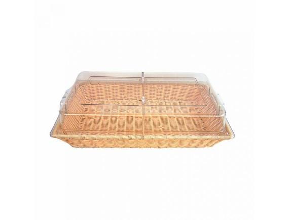 Подставка для выкладки, бежевая, прямоугольная с крышкой 53х32.5х13см, Proff Cuisine. (95001105)