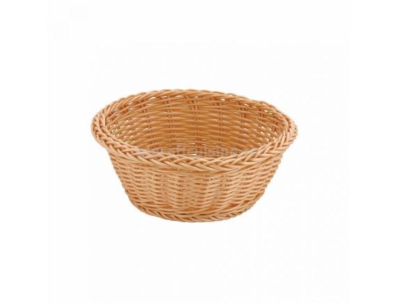 Хлебница плетеная, ротанг беж.круглая d=18.5.h 7.5 см, SUNNEX. (95001258)