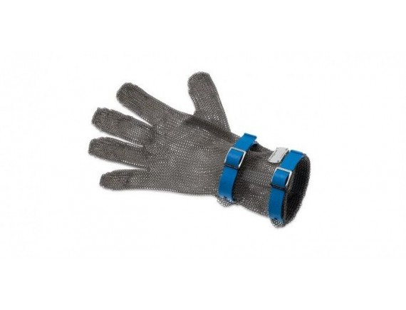 Кольчужная перчатка, с манжетой 8 см, нержавеющая сталь, размер L, Giesser Messer. (9590 08 b)