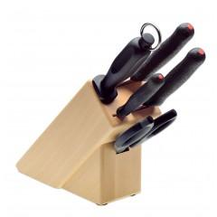 Набор ножей, ручка PrimeLine из 5 позиций на подставке, Giesser Messer. (9891 b5 pl)