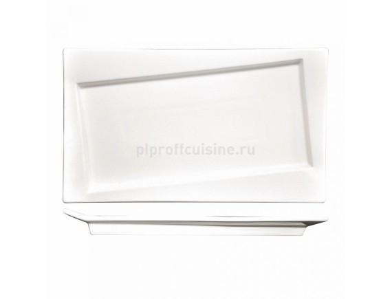 Блюдо прямоугольное cмещен.дно 25*14,5 см  Kunst Werk